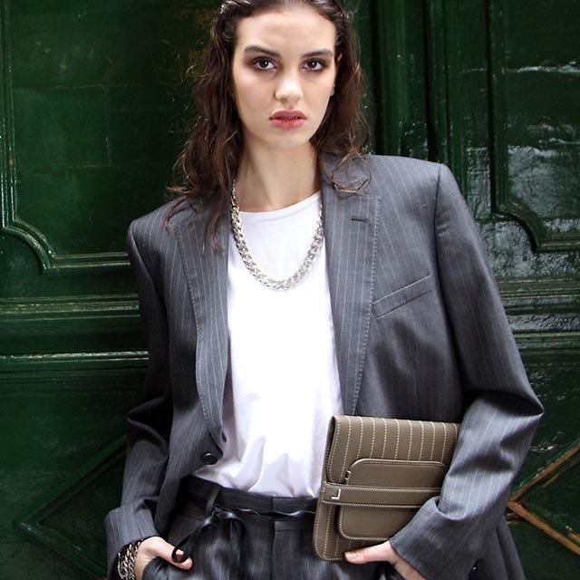 Evening Clutch Bag pin stripe style