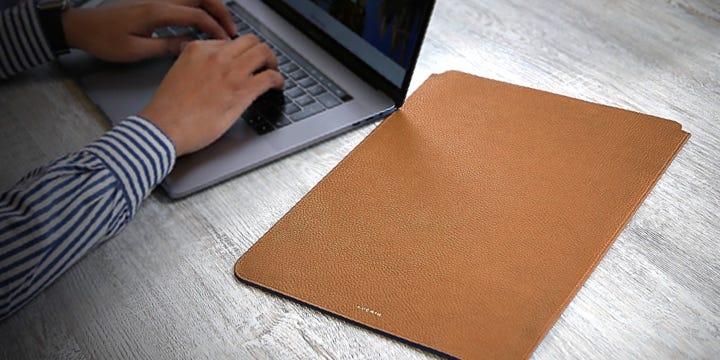 """Funda de protección para MacBook Pro 16"""" - Coñac  - Piel Grano"""